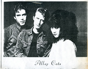 Alley Cats promo photo, photocopied circa 191/1982, provided by Doug D.
