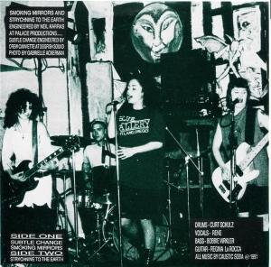 """Caustic Soda """"Subtle Change"""" 7"""" single 45, Rainforest Records, 1991"""