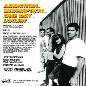 "Tilt ""Addiction"" 7"" single 45, Lookout Records No. 61, 1992"
