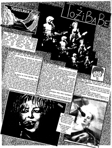 Tozibabe interview in Maximum RocknRoll No. 36, May 1986