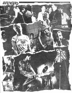 Avengers photo layout, Maximum RocknRoll No. 101, Oct. 1991