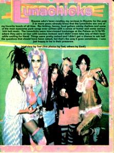 Lunachicks interview, Flipside No. 97, 1995