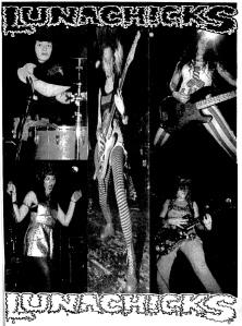 Lunachicks photo spread, Maximum RocknRoll No. 101, Oct. 1991