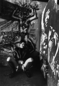 Female punk fan at Lola's, Houston TX, circa 1992, by Ben DeSoto