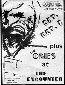 Alley Cats at The Encounter in Houston, TX, from Public News, 1982