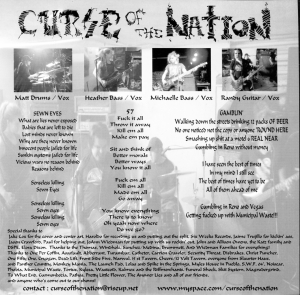 """Assfault / Curse of the Nation (with Heather on bass) split 7"""" single 45, Bad People Records No. 30"""
