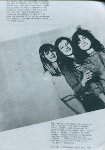Raincoats profile in The Hanged Men Dance zine, 1982 , Ontario, Canada