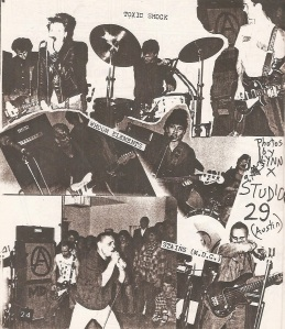 Toxic Shock and Whoom Elements photos from Studio 29 by Lynn X from Hymnal No 2 1982