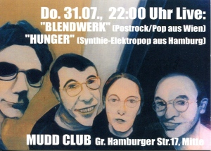Blendwerk (with Katrin Plavcak) at Mudd Club in Berlin