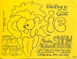 Cookie and Groovie Ghoulies at Fourth St. Cafe in San Jose, CA, 1994