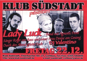 Lady Luck (with Denise am Gesang) at Klub Sudstadt, Berlin, Germany, mid-2000s