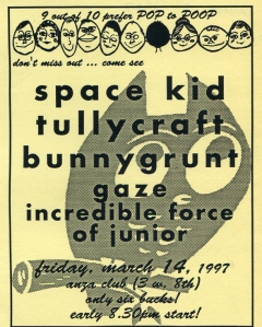 Tullycraft (with Jenny Mears), Bunnygrunt (with Karen Ried), and Incredible Force of Junior (with Susan Robb) at Anza Club in Vancouver, canada, 1997