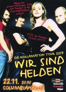 Wir Send Helden at Columbiahalle in Berlin, 2003