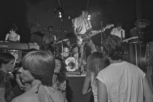 Standing Waves (with Shona Lay) at Club Foot, Austin, early 1980s, by Ben DeSoto