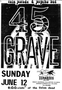 45 Grave at Ichabods in Fullerton, CA