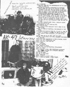 AK-47 (with Penny Smith) interview, Hymnal Zine No. 2, 1982