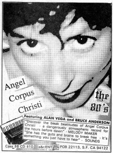 "Advert for Angel Corpus Christie (Andrea Ross), ""The 80's,"" Forced Exposure No. 17"