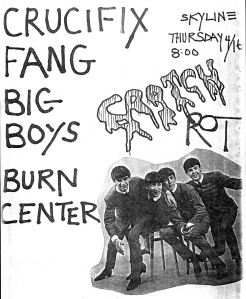 Burn Center (with Karla Eppler) at the Skyline Club in Austin, TX, mid-1980s