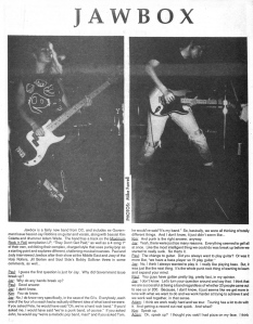 Jawbox (with Kim Coletta), Subrban Voice, No. 30, 1990