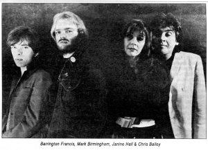 The Saints (with Janine Hall), circa early 1980s,  Bucketfull of Brains, No. 32, Jan. 1990