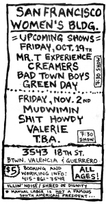 Mudwimin and Creamers at Mudwimin, and more, from Maximum RocknRoll No. 89, 1990