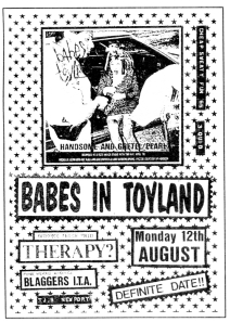 Babes in Toyland at TJs in Newport, Wales, UK, from Cheap SWeaty Fun No 200
