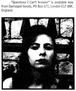The Bristols (with Fabienne Del Sol), Maximum RocknRoll, Oct. 1997, No. 173