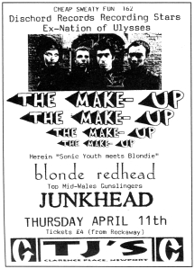 The Make-Up (with Michelle Mae), Blonde Redhead (with Kazu Makino), TJs, Newport, Wales, UK