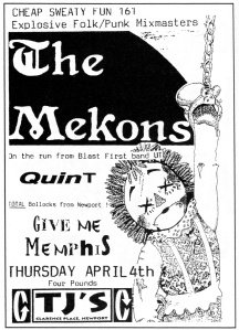 The Mekons (with Sally Timms) at TJs in Newport, Wales, UK, from Cheap Sweaty Fun No. 200