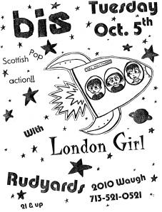 Bis (with Amanda MacKinnon / Manda Rin) and London Girl at Rudyards in Rudyards, Houston, TX, circa 2000