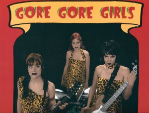 "Detail from Gore Gore Girls ""Stranger Girls"" LP jacket, Get Hip 1096, 2001"