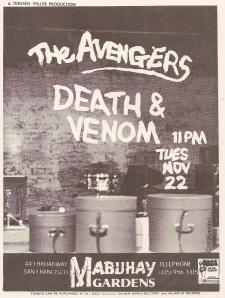 The Avengers at Mabuhay Gardens, San Francisco, 1979, by Evenson