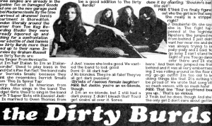 The Dirty Burds snippet,  Maximum RocknRoll, No. 175, Dec. 1997