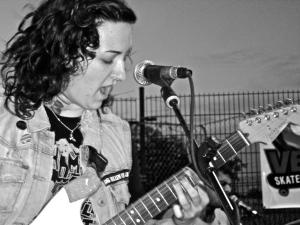 Talk Sick Brats (with Stephanie Pontiff) atJamail Skate Park, Houston, TX, photo by David Ensminger