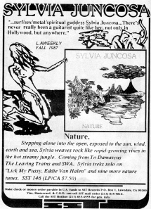 "Advert for Sylvia Juncosa ""Nature,"" SST Records, Contrast, Issue 6, Fall 1989"