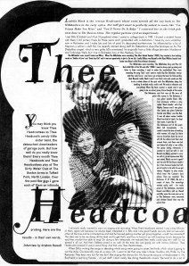 Thee Headcoatees, Maximum RocknRoll, July 1998, No. 182