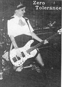 Zero Tolerance (with Clara Wiseman), Maximum RocknRoll, Sept. 1998, No. 184