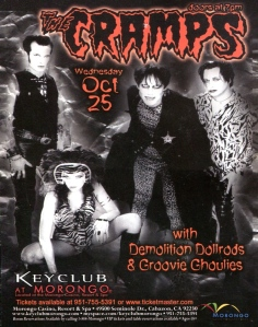 Groovie Ghoulies, Cramps, and Demolition Doll Rods at the Key Club