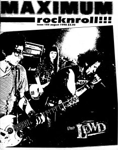 The Lewd (with Olda D. Volga), Maximum RocknRoll No. 183, 1998