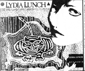 "Lydia Lunch advert for Hysterie,"" Flipside No. 52"