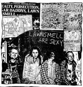 Lawnsmell (with Gina Monaro), Maximum RocknRoll No. 141, Feb, 1995