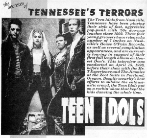 Teen Idols (with Heather), from Maximum RocknRoll, No. 141, Feb. 1995