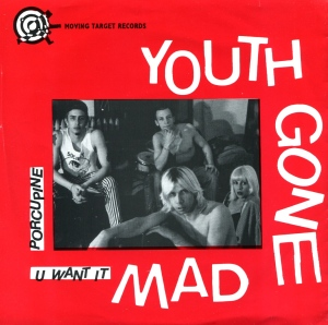 "Youth Gone Mad / Bastard Squad split 7"", Moving Target Records, 1992"