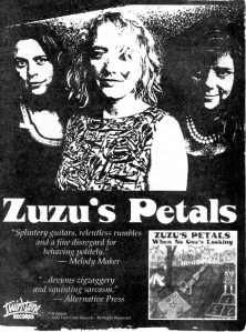 "Zuzu's Petals ""When No One's Looking"" advert, Flipside, 1993"