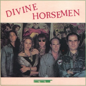 "Divine Horsemen (with Julie Christensen) portrait, from ""Snake Handler"" CD, SST Records, 140, 1987"
