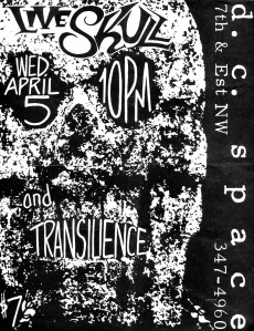 Live Skull (with Thalia Zedek and Sonda Andersson) at DC Space in Washington DC, 1989