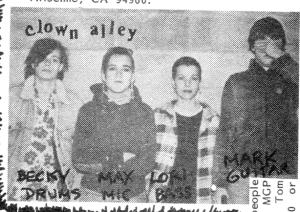 Clown Alley (with Lori, Max, and Lori Black), Maximum RocknRoll, Jan. 1985, No. 21