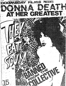 "Donna Death starring in ""They Eat Scum"" by Nick Zodiak, from Final Solution, No. 5, Feb. 1980"