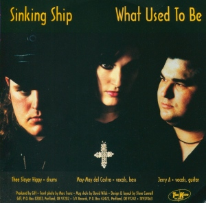 "Gift (with May-May del Castro) ""Sinking Ship"" 7"" single 45, back cover, Tim Kerr Records"