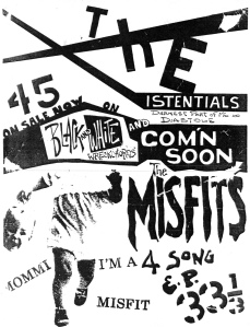 "The Misfits (later known as The Tragics), featuring Liz Davies, ""Mommi I'm a Misfit"" apromo flyer"